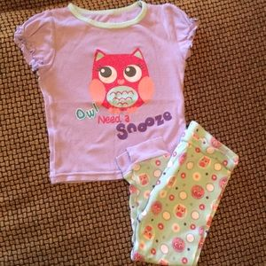 Other - Owl pajama set; tee and pants sized 24 months